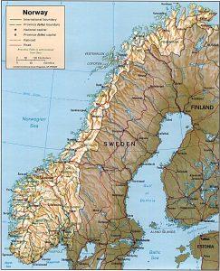 מפת-נורווגיה