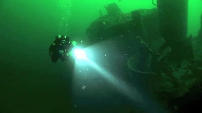 צלילה בספינה טרופה נורווגיה