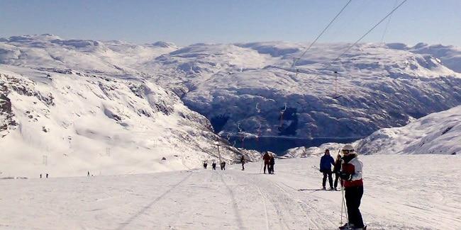 מסלול סקי בעיירה רולדאל