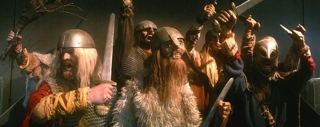 תצוגת ויקינגים נלחמים במוזיאון סטוונגר