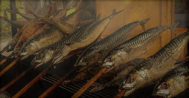 דגי פורל על האש באיזור היטרה, פרוייה ופוזן