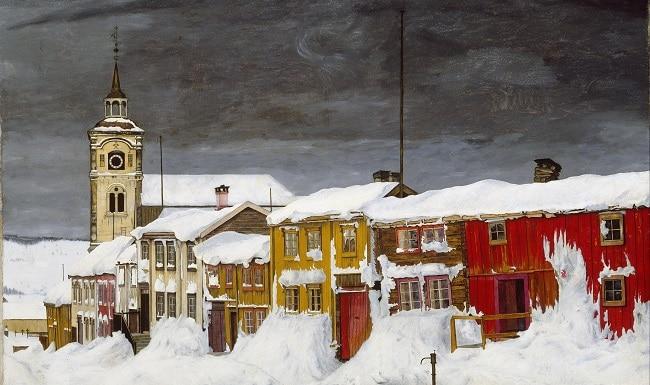 ציור של ררוס בשלג