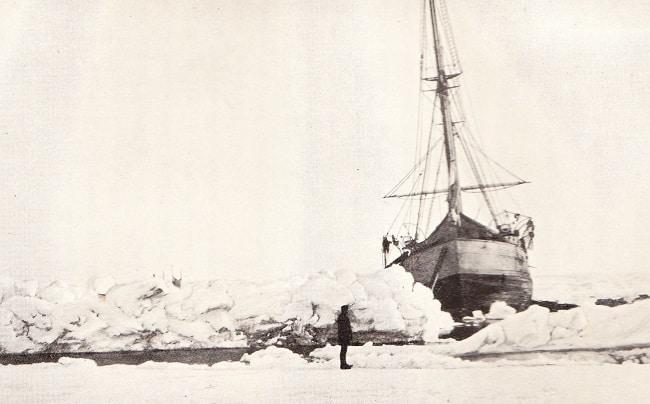 האנייה פראם על הקרח 1896