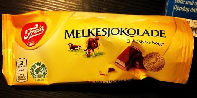 שוקולד נורבגי של Freia