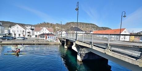 גשר על פיורד פלקה - Flekkefjord - עותק