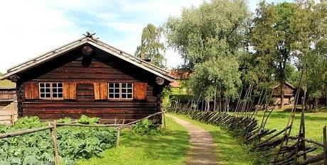 המוזיאון הנורבגי העממי באוסלו - Norsk Folkemuseum - עותק