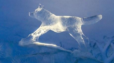 פסל מקרח בנורבגיה - עותק