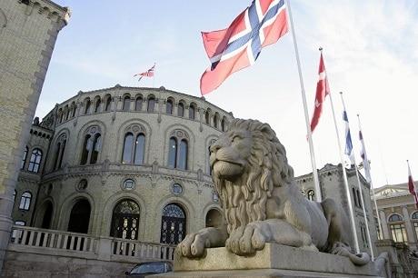 בניין הפרלמנט הנורבגי באוסלו - עותק