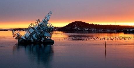 מצוף ימי בהמשך פיורד אוסלו - עותק