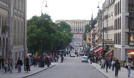 רחוב קארל יוהנס גייט באוסלו - עותק