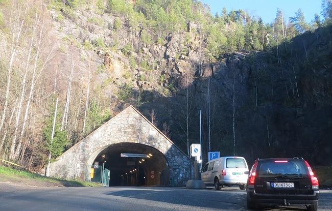 פתח המנהרה ב-Spiraltoppen