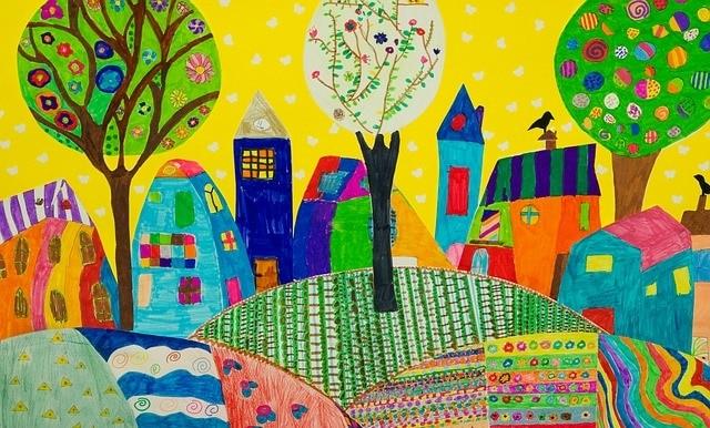 ציור המוזיאון הבינלאומי לאמנות ילדים באוסלו