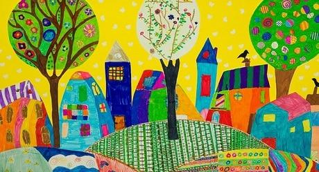 ציור המוזיאון הבינלאומי לאמנות ילדים באוסלו - עותק