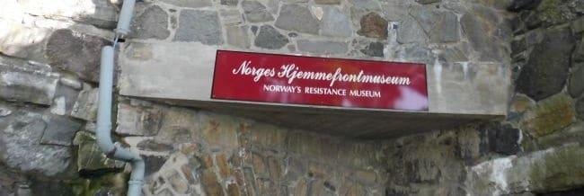 הכניסה למוזיאון ההתנגדות באוסלו