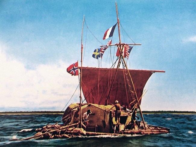 ציור של הרפסודה קון טיקי