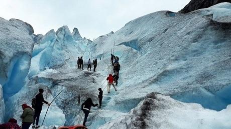 הקרחון. התמונה מאת יוסי קינר - עותק