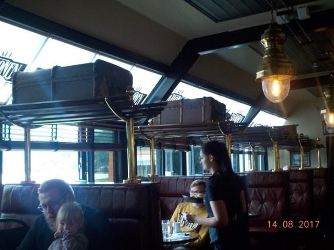 מקומות הישיבה ב-Café Stationen