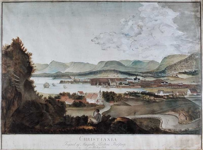 פריט במוזיאון פארק אקברג - ציור של הנוף מפארק אקברג - 19 ביולי 1814