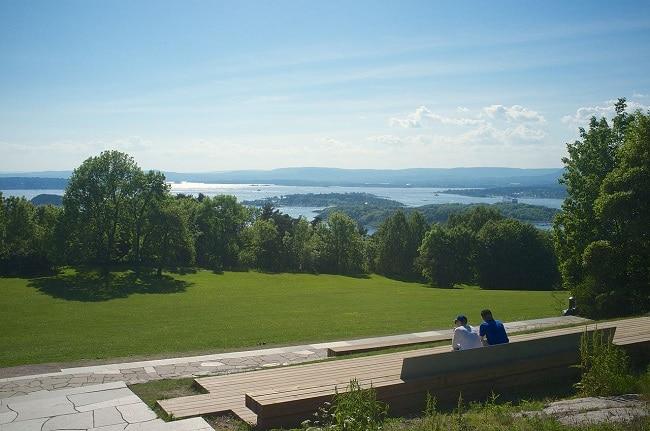תצפית מתוך פארק אקברג על פיורד אוסלו