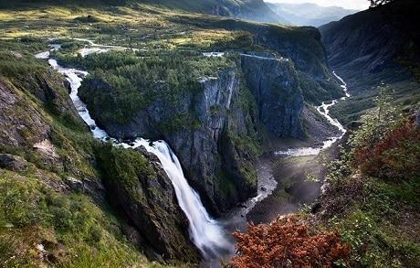 מפל Bringefossen - המפלים של פיורד גרונגר - עותק