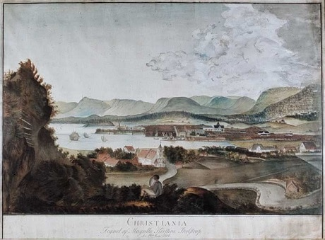 פריט במוזיאון פארק אקברג - ציור של הנוף מפארק אקברג - 19 ביולי 1814 - עותק