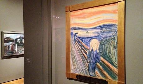 אדוארד מונק - ציור הצעקה בתוך מוזיאון מונק - עותק