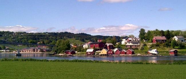 נוף טיפוסי ב-Inderøy