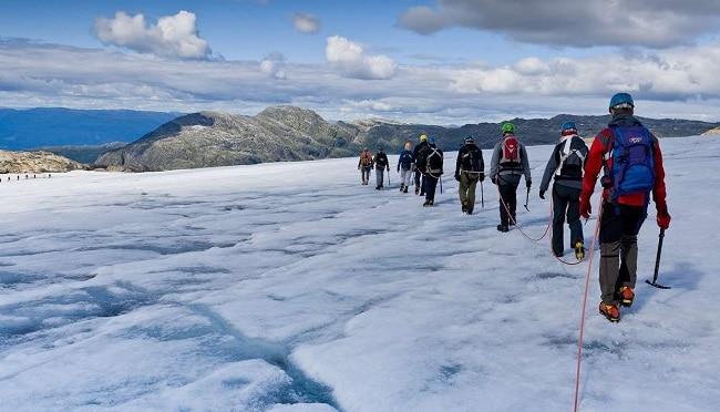 קרחון Juklavass שבפארק הלאומי Folgefonna