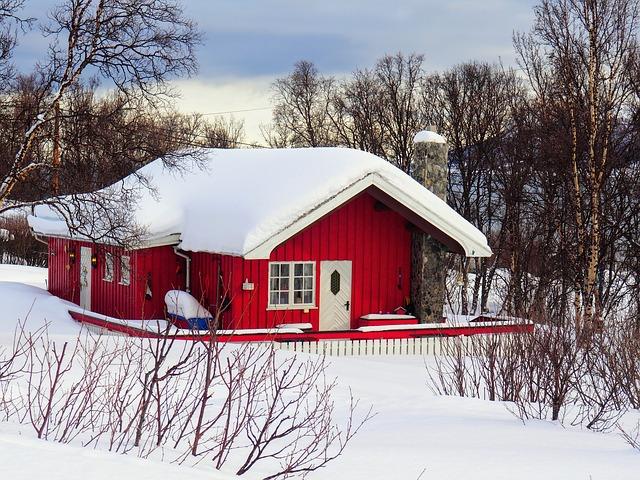 בקתה טיפוסית במחוז פינמרק