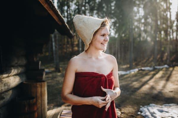 סאונה בחיק הטבע במלון Sorrisniva
